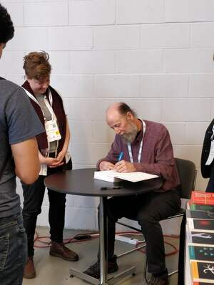 Richard S. Sutton signing at NeurIPS 2018