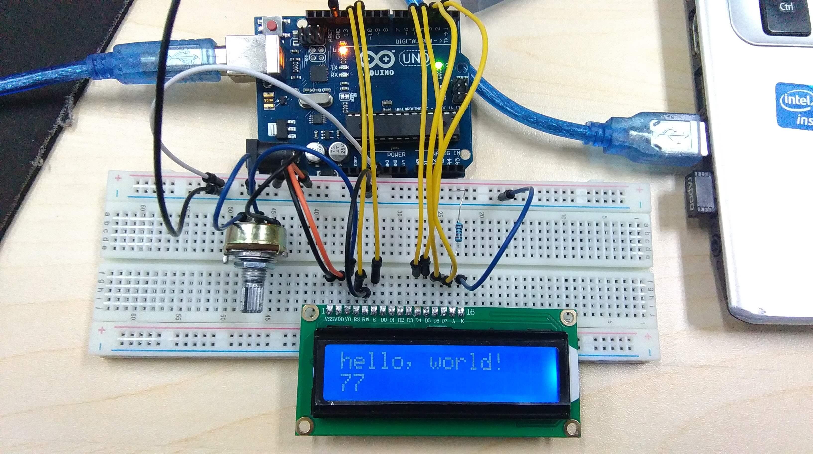 hello world on arduino